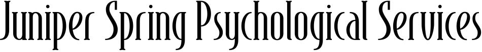 Juniper Spring Psychological Services Header Logo